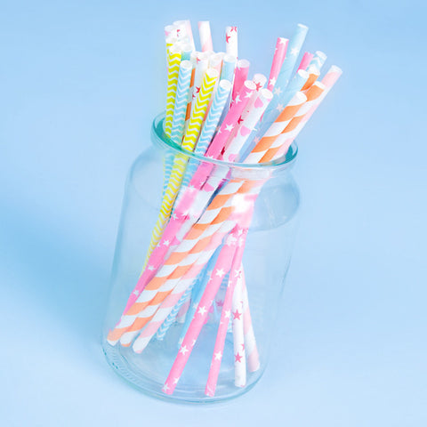 Colourful Party Drink Straws - Feeling Quirky