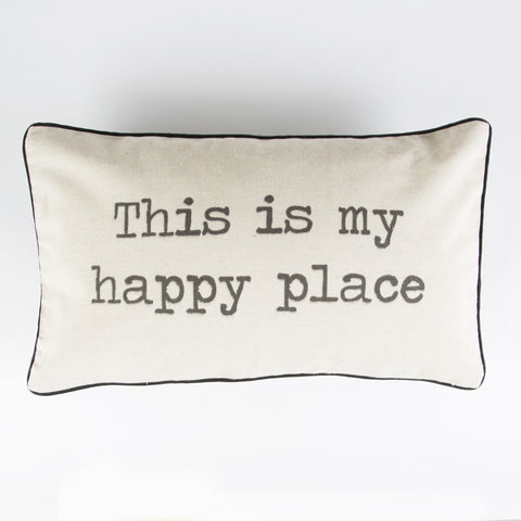 This Is My Happy Place - Rustic Cushion