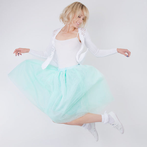 Gorgeous Ladies Aqua Tulle Skirt - Feeling Quirky