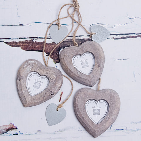 3 Hanging Hearts Photo Frame