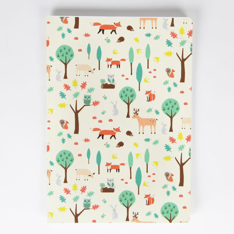 Whimsical Woodland A5 Notebook