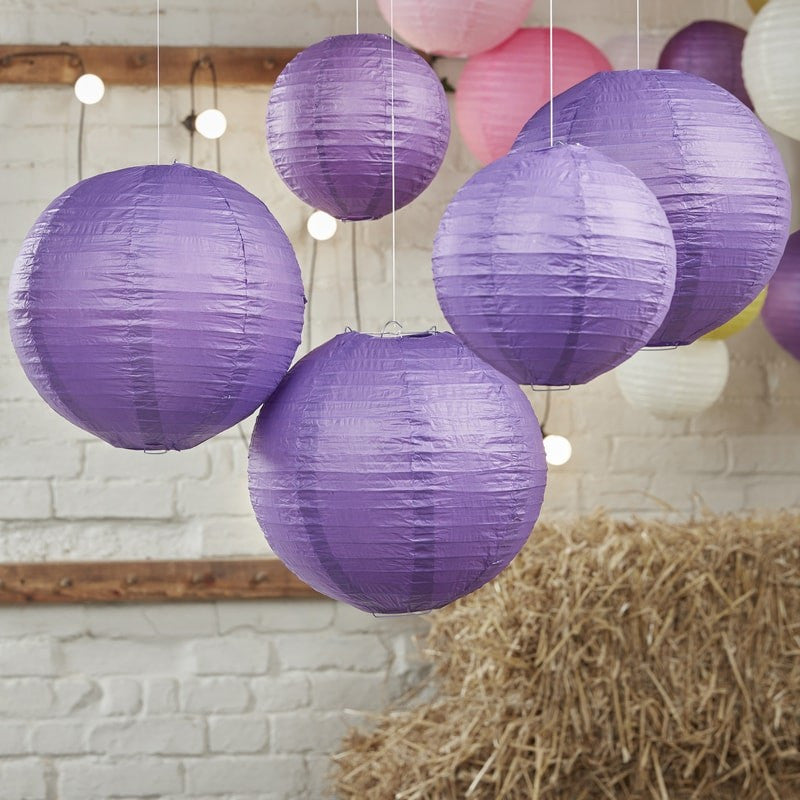 Purple Paper Lanterns - Feeling Quirky