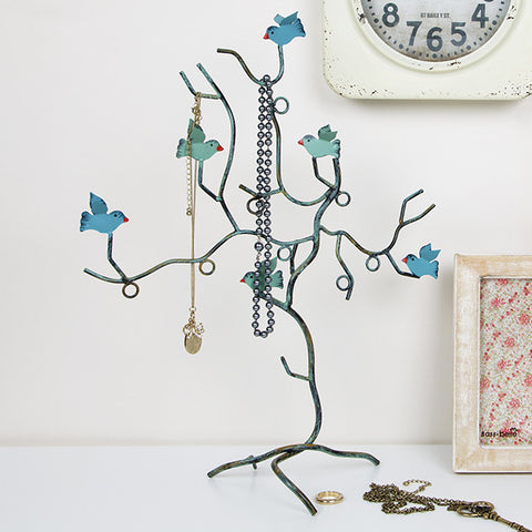 TEAL BIRD BRANCH JEWELLERY HOLDER - Feeling Quirky