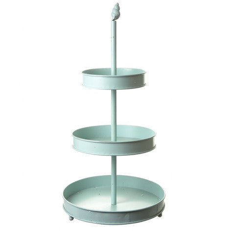 CIRCULAR TRIPLE BLUE CAKE STAND - Feeling Quirky