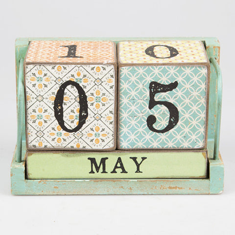 MODERN MOROCCO CALENDAR BLOCK - Feeling Quirky