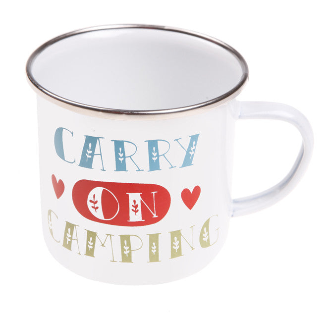 ENAMEL CARRY ON CAMPING MUG