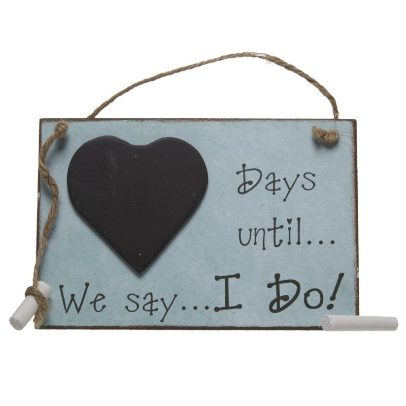 Days Until We Say I Do Chalkboard - Feeling Quirky
