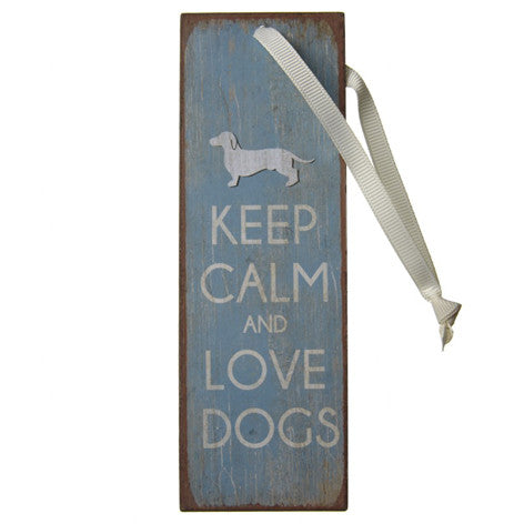 Keep Calm Love Dogs Mini Metal Sign