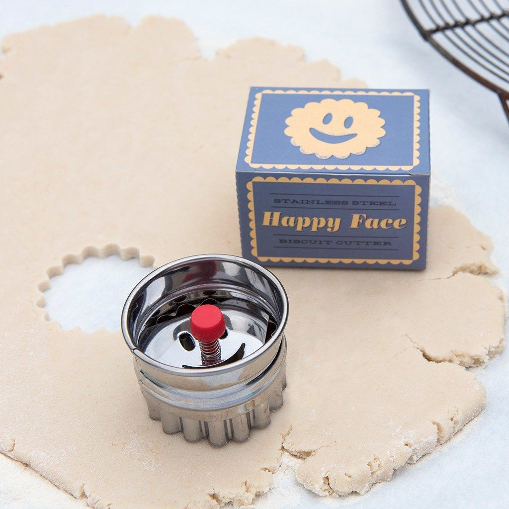 Happy Face Biscuit Cutter - Feeling Quirky