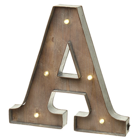 Large Light Up Letter 'A' Sign With LED