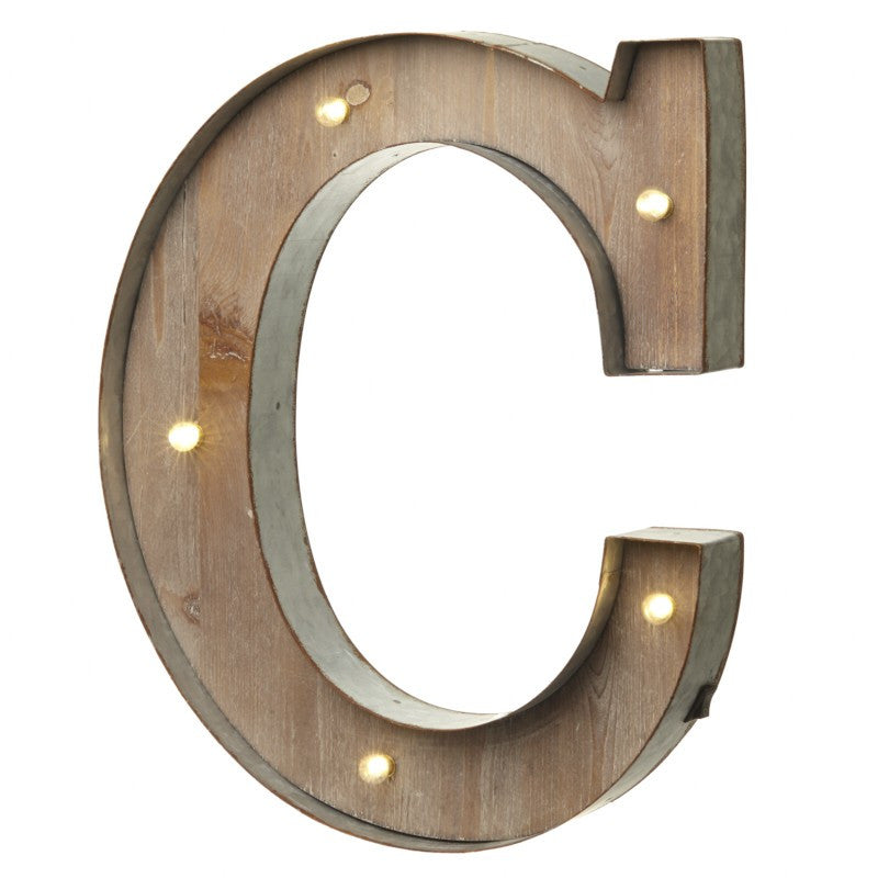 Large Light Up Letter 'C' Sign With LED - Feeling Quirky