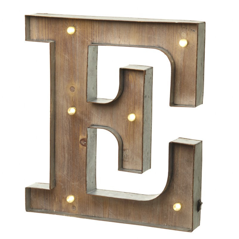 Large Light Up Letter 'E' Sign With LED - Feeling Quirky