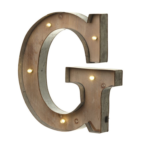 Large Light Up Letter 'G' Sign With LED - Feeling Quirky