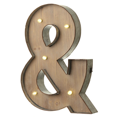 Large Light Up '&' Sign With LED - Feeling Quirky