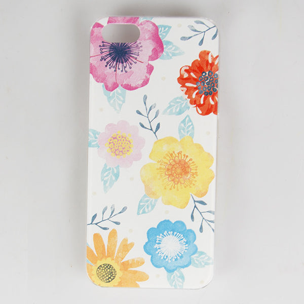 WHITE WATERCOLOUR FLORAL IPHONE 5 / 5S CASE