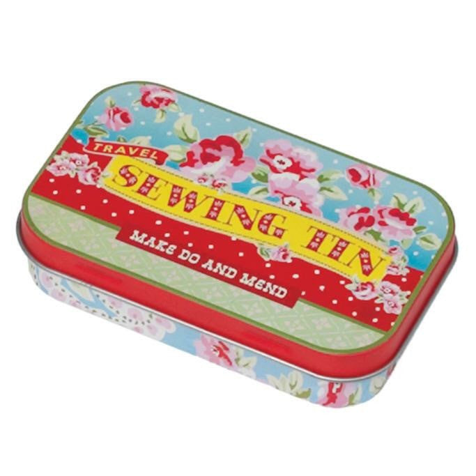 Vintage Floral Travel Sewing Kit Tin - Feeling Quirky