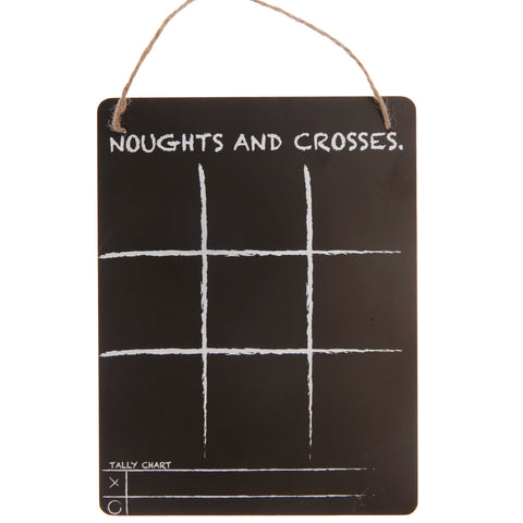Noughts and Crosses Chalkboard