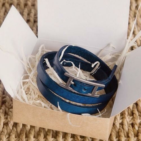 Unisex Leather Wrap Bracelet - Feeling Quirky