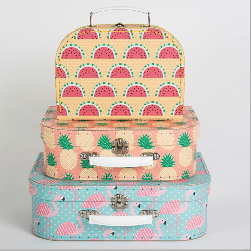 Tropical Themed Suitcases - Feeling Quirky