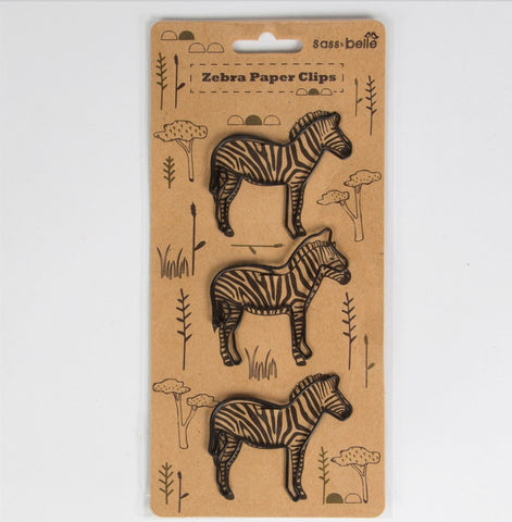 Set Of 3 Zebra Paperclips - Feeling Quirky