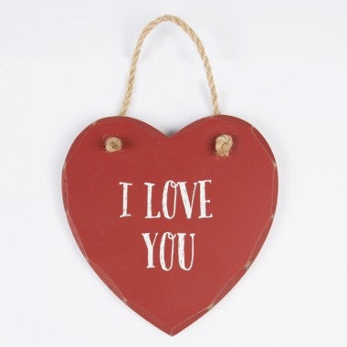 I Love You Love Heart Plaque - Feeling Quirky