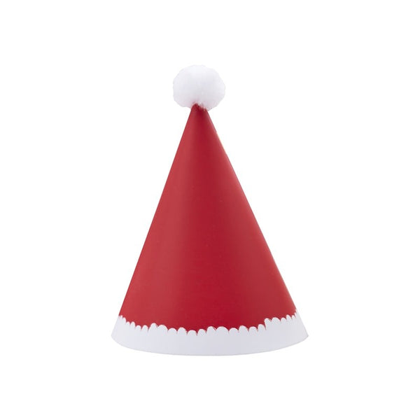 Mini Christmas Santa Pom Pom Party Hats - Feeling Quirky