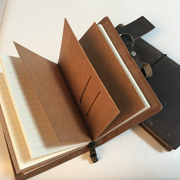 Leather Travel Notebook - Feeling Quirky