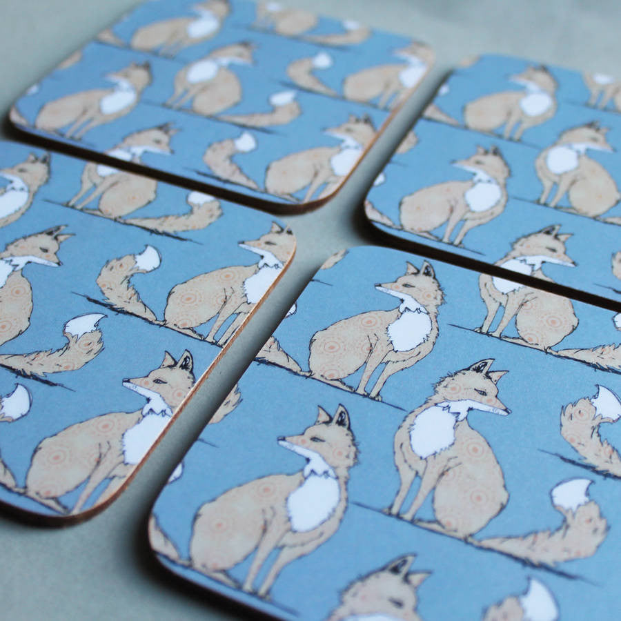 Urban Fox Coaster Set - Feeling Quirky