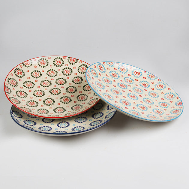 SET OF 3 BOHEMIAN PLATES - Feeling Quirky & SET OF 3 BOHEMIAN PLATES u2013 Feeling Quirky