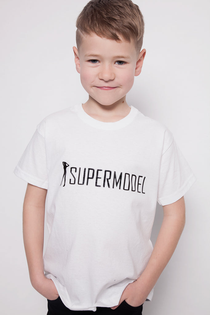 Unisex Slogan T-shirt - Supermodel Slogan - Adults & Kids