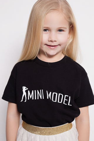 Unisex Slogan T-shirt - Mini Model Slogan - Adults & Kids