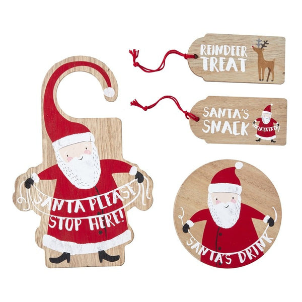 Wooden Santas Coming Christmas Eve Kit