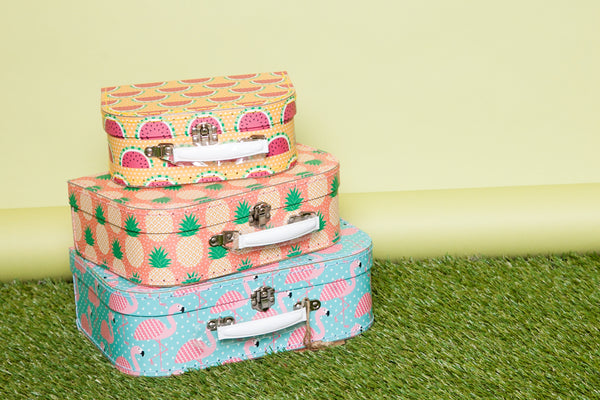 Tropical Themed Suitcases