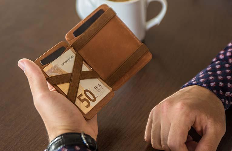 DIE Geschenkidee: Hunterson Magic-Coin-Wallet