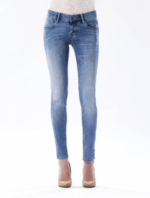 Skinny Push Up Damen Jeans > Farbe: medium blau > Modell: Gina