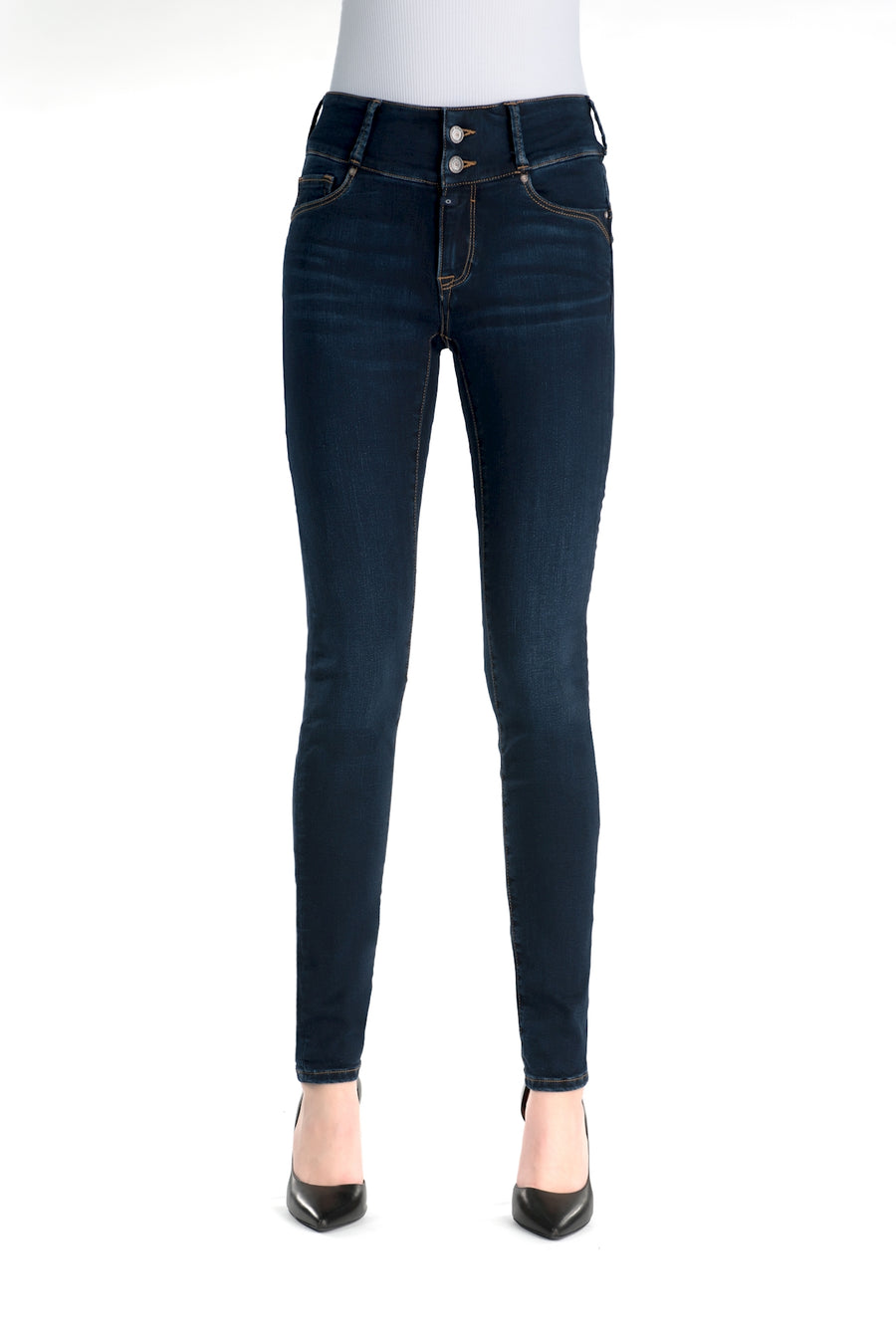 Tess, High Waist, Super skinny, darkblue