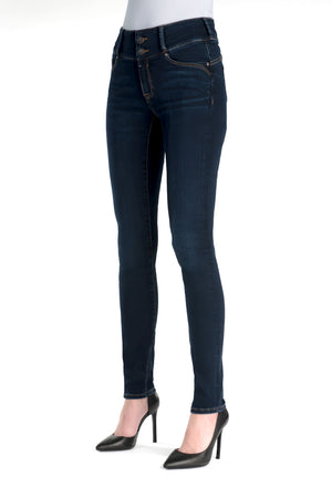 Tess, High Waist, Super skinny, darkblue (CLOSE OUT)