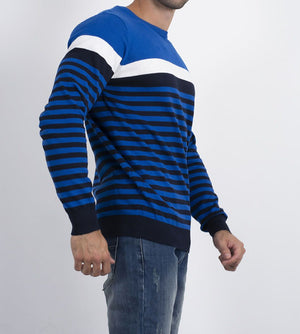 Strickpullover für Herren, Colourblock Striped Apella