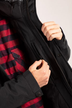 Field Jacket 2, dark grey/black & navy/red brown