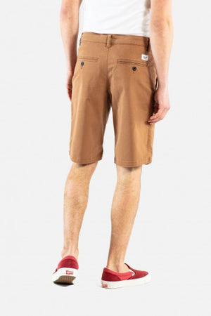 Flex Grip Chino Shorts aus Baumwolle, ocre brown