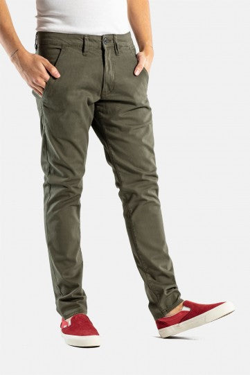 Flex Reell Tapered Chino Hose FarbeOlive Herren In EHW92ID