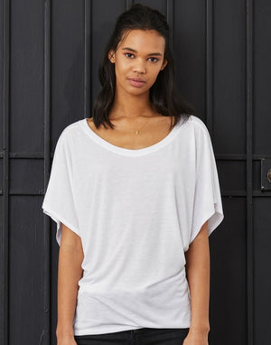 T-Shirt für Damen, Flowy Draped Sleeve Dolman