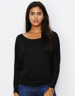 Langarmshirt für Damen, Flowy LS Off Shoulder