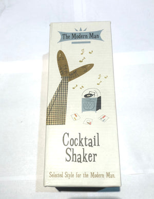 Cocktail Shaker Retro Modern Man