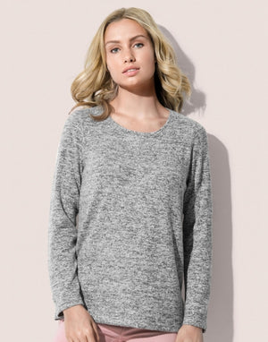 Knit Sweater Women, grau & blau