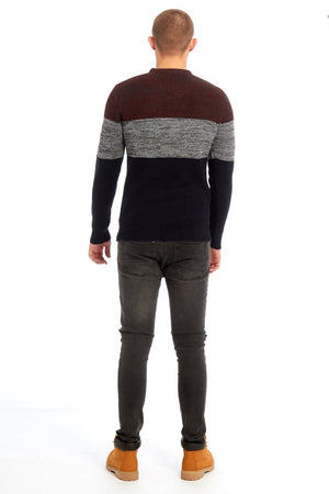 Strickpullover für Herren,  Two-Tone Knitted Jumper
