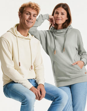 Kapuzensweatshirt unisex, Pure Organic Cotton High Collar