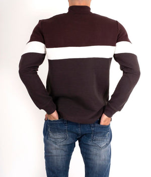 Sweatshirt mit Kragen, Two-Tone