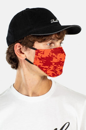 Gesichtsmaske, Scale Camo Red