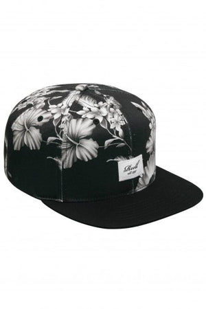 Reell Night 6-Panel Cap,  Farbe: black & white